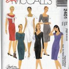 McCall's 2401 Pattern uncut 18 20 22 Sheath Dresses Darts Neckline and Sleeve Variations