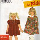 Simplicity 9882 Pattern uncut Girls Toddlers 2 3 4 5 6 6X Dress Gathered to Yoke Peter Pan Collar