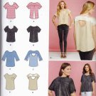 Simplicity 1106 Pattern uncut XXS - XXL Tops with Fabric Variations In K Designs