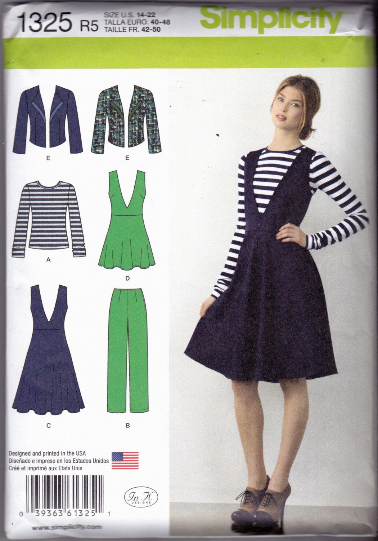 Simplicity 1325 Pattern uncut 14 16 18 20 22 Pants Jumper Tunic Jacket Knit Top In K Designs