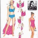 Simplicity 1374 Pattern uncut 16 18 20 22 24 Two Piece Swimsuit Tankini Bikini Coverup