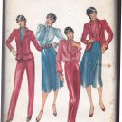 Butterick 3355 Pattern uncut 10 Lined Jacket Blouse Jabot Skirt Pants Suit