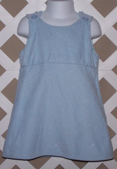 Girls Baby Gap Blue Corduroy Jumper Dress 2T