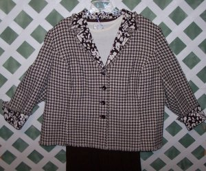 Kasper Jacket Allison Daley Pants 3pc Suit 24 24W