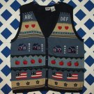 Capacity Woman Size 3X School Teacher Sweater Cardigan Vest
