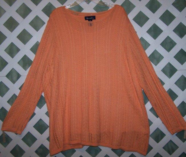 Peach Colored Denim & Co. Sweater Size 3X