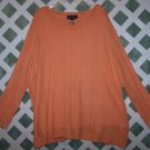Peach Colored Denim & Co. Sweater Size 3X