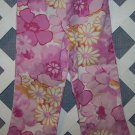 Girls Pink Flower Baby LuLu Pants Size 4T