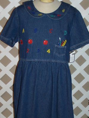 Womens Denim School Teacher Dress by Sophia Rose Size 18 NEW