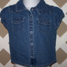Girls Old Navy Denim Button Up Snap Shirt Size 18-24 Months