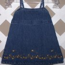 Baby Girls Old Navy Denim Dress Size XS 0-3 Months