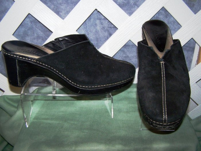 Womens Black Suede Cole Haan Shoes 8.5 Mule
