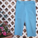 Womens Sky Blue St. John's Bay Capri Pants 12 BTS