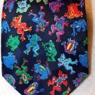 Mens Multi Color FROGS Necktie by Top Knotch Designs