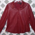Womens New York & Company Soft Leather Like Shirt Size L