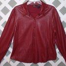 Womens New York & Company Soft Leather Like Shirt Size L