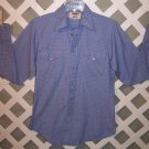 Mens Vintage Pearl Snaps Western Cowboy Shirt Size 15