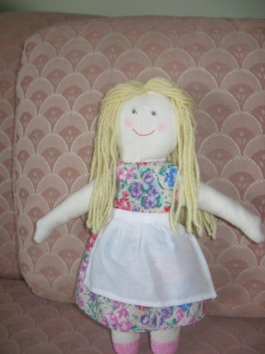 Blond doll with flowered dress