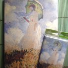Monet Gift Set Tree Free Eco Journal Dream Diary & Magnet Lady w Parasol