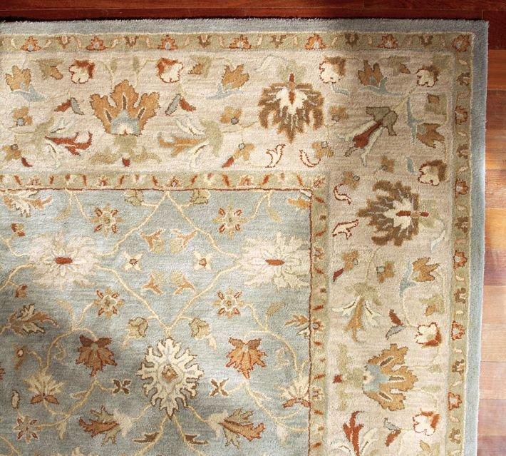 POTTERY BARN NEW Malika Persian Hand Tufted 10X14 Modern Design Wool Carpet Rug