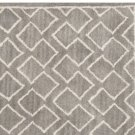 POTTERY BARN NEW Taylor Geo Rug Gray Mist Hand Tufted 3X5 Design Wool Carpet Rug