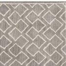 POTTERY BARN NEW Taylor Geo Rug Gray Mist Hand Tufted 3X5 Design Wool Carpet Rug