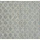 POTTERY BARN Scroll Tile Porcelain Blue Hand Tufted 8X10 Design Wool Carpet Rug