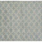 POTTERY BARN Scroll Tile Porcelain Blue Hand Tufted 5X8 Design Wool Carpet Rug