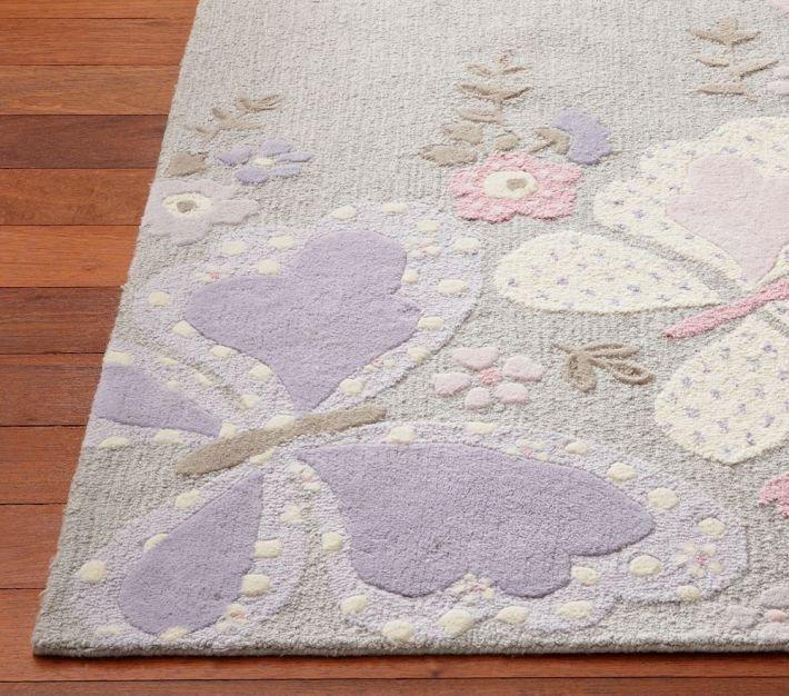 POTTERY BARN NEW Tufted 5X8 Modern Designer GABRIELLE Kids Rugs & Carpets