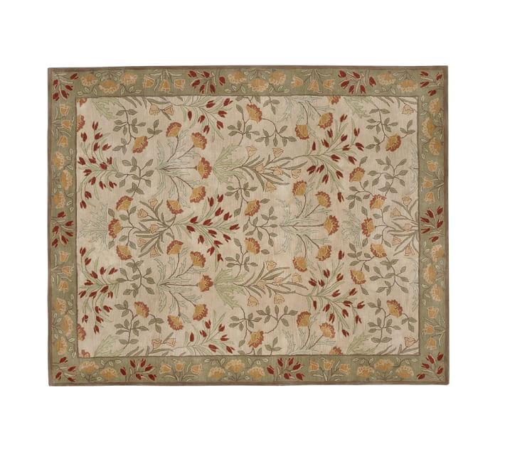 POTTERY BARN NEW Persian Adeline Multi Mist Hand Tufted 8X10 Wool Carpet Rug