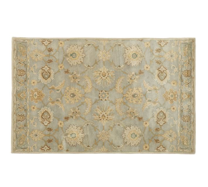 POTTERY BARN Tufted 5X8 Modern Design Wool Carpet Gabrielle Persian-Style Rug