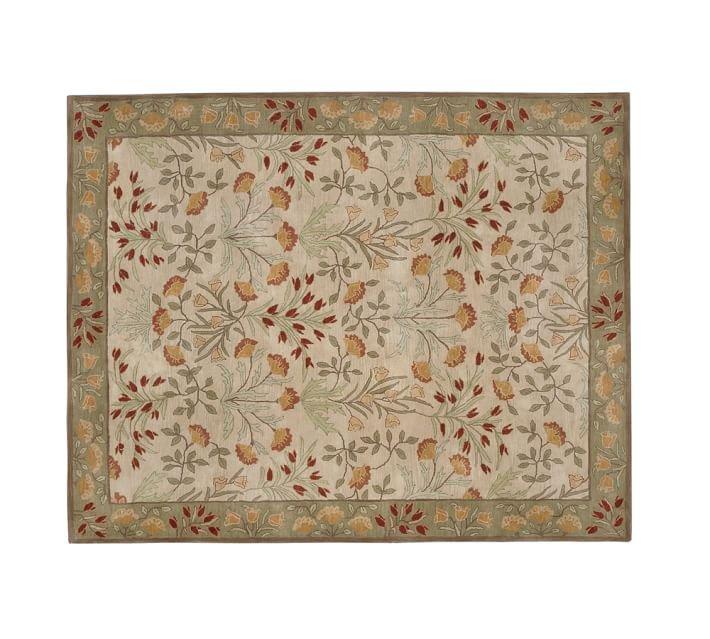 POTTERY BARN NEW Persian Adeline Multi Mist Hand Tufted 9X12 Wool Carpet Rug
