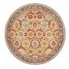 NEW POTTERY BARN Eva bage Persian Hand Tufted 8X8 Round Modern Design Wool Carpet Rug