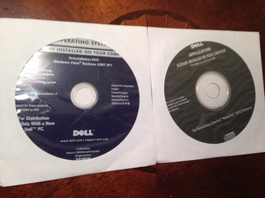 Dell OEM Windows Vista Business SP1 32 Bit DVD - New Sealed