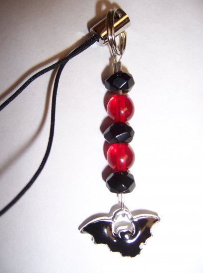 Bat Cell Phone Charm (Red)
