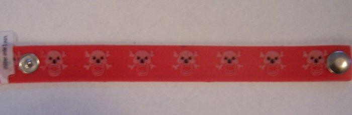 Glow-in-the-dark Red skull bracelet