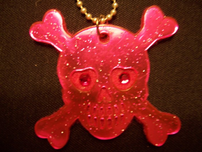Skull and Crossbones Necklace (Pink)
