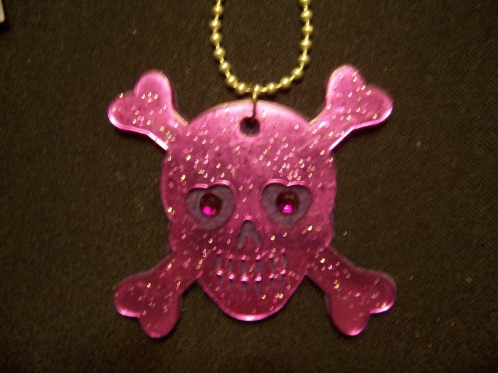 Skull and Crossbones Necklace (Purple)