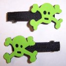 Skull And Crossbones Barrettes