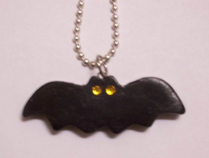 Bat Necklace (Yellow Eyes)