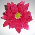 Magenta Gem Shasta Daisy Flower Barrette