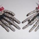 Batty Skeleton Hand Barrettes