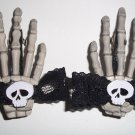 Skull Bow Skeleton Hands Barrettes