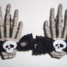 Skull Bow Skeleton Hands Barrettes