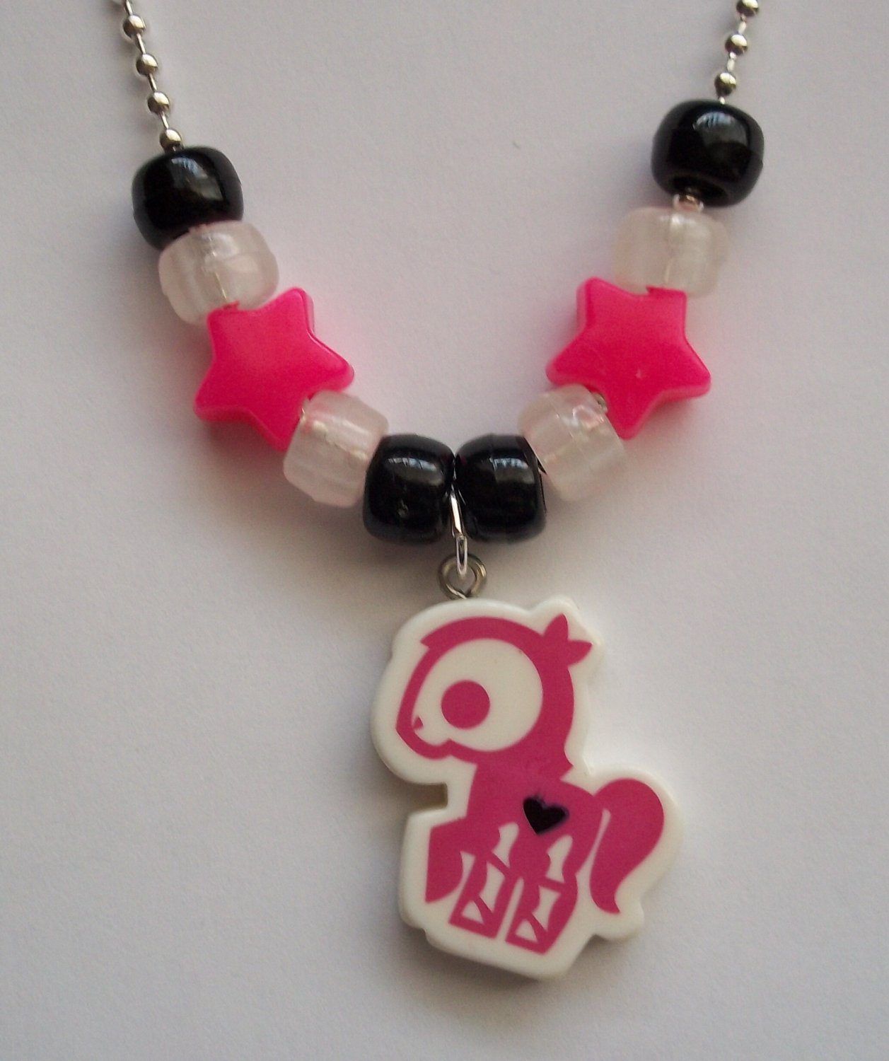 Fuchsia Pony Skelanimals Necklace