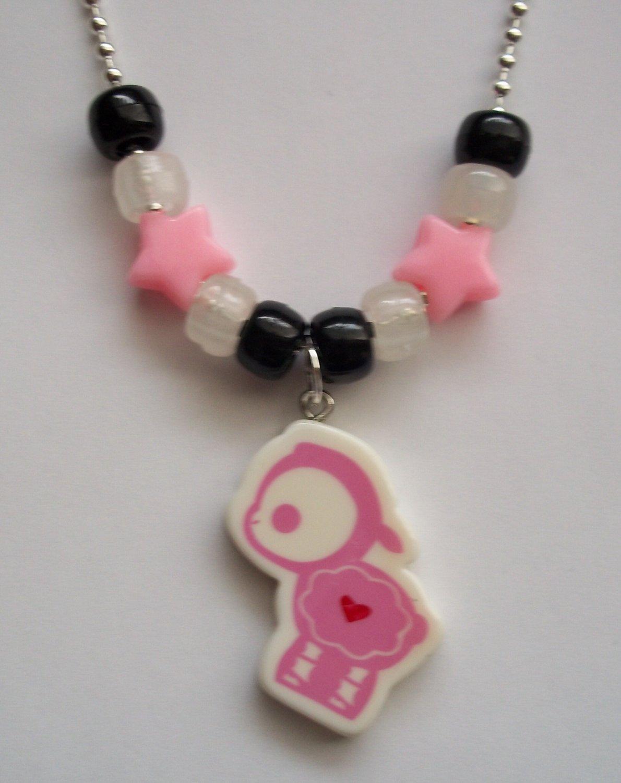 Light Pink Lamb Skelanimals Necklace