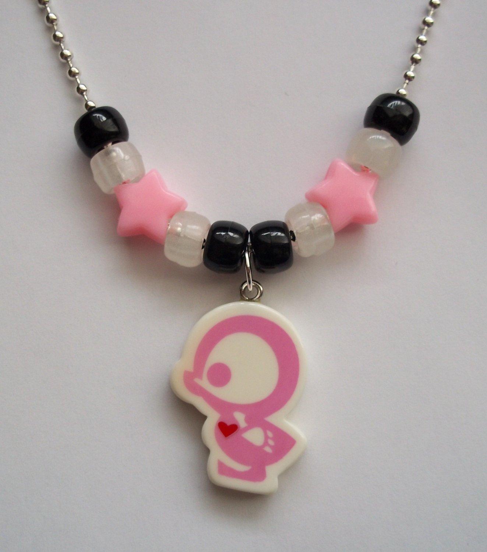Light Pink Duck Skelanimals Necklace
