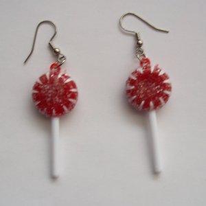 Red Lollipop Earrings
