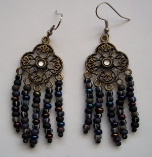 Dark Flower Earrings