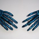 Blue Skeleton Hand Barrettes